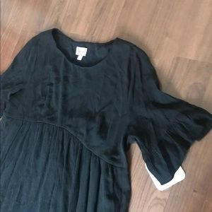 Isabel Maternity by Ingrid & Isabel Dresses - Black swing maternity dress
